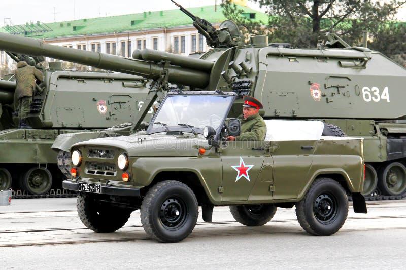 胜利游行2014年在叶卡捷琳堡,俄罗斯 免版税库存照片