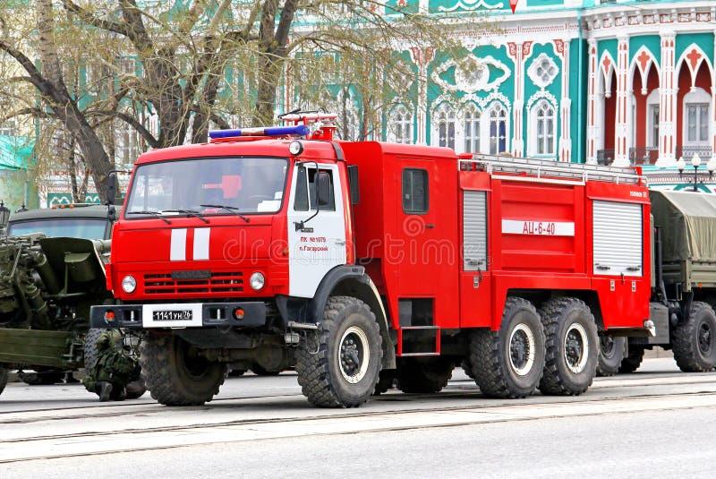 胜利游行2014年在叶卡捷琳堡,俄罗斯 免版税库存图片
