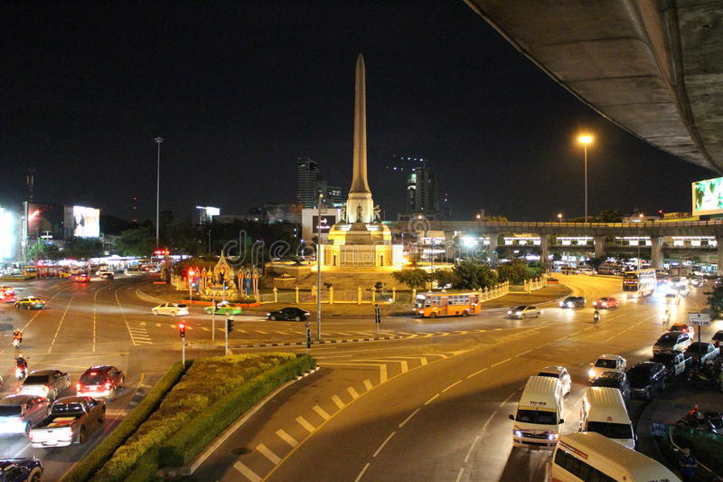 胜利纪念碑,曼谷,泰国 图库摄影