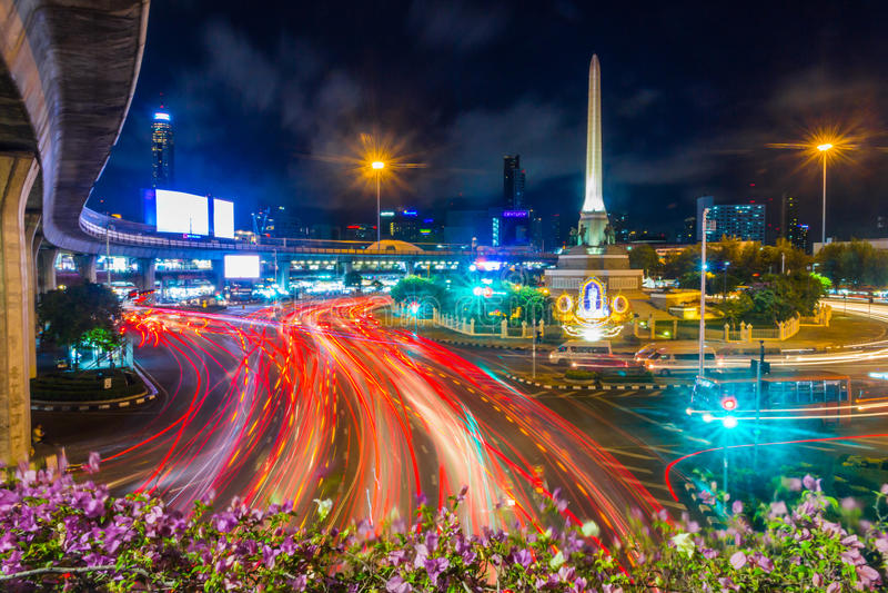 胜利纪念碑Bangkok#1 免版税图库摄影