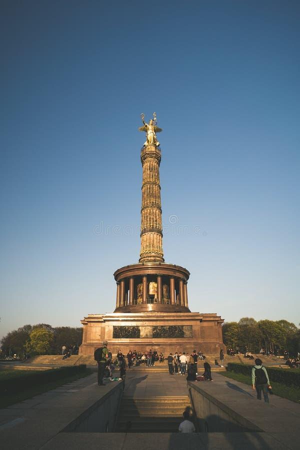 胜利纪念碑Siegessauele在柏林 免版税库存图片