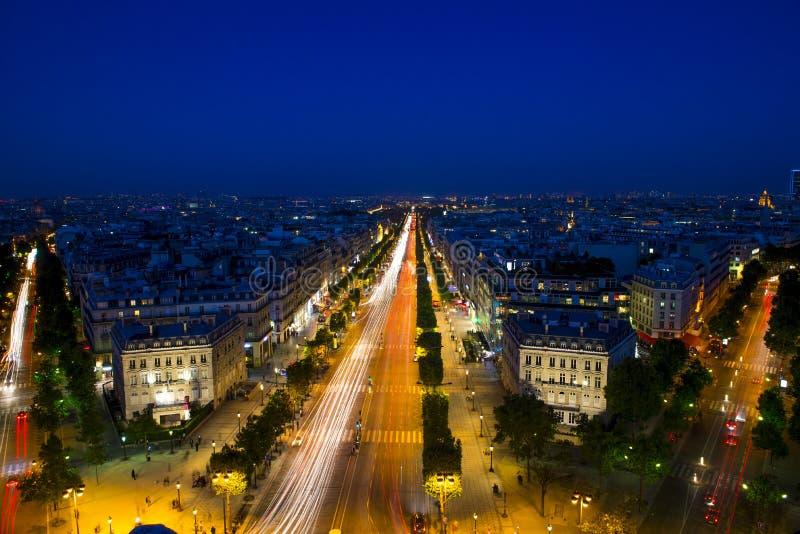 胜利巴黎法国的弧 免版税库存图片