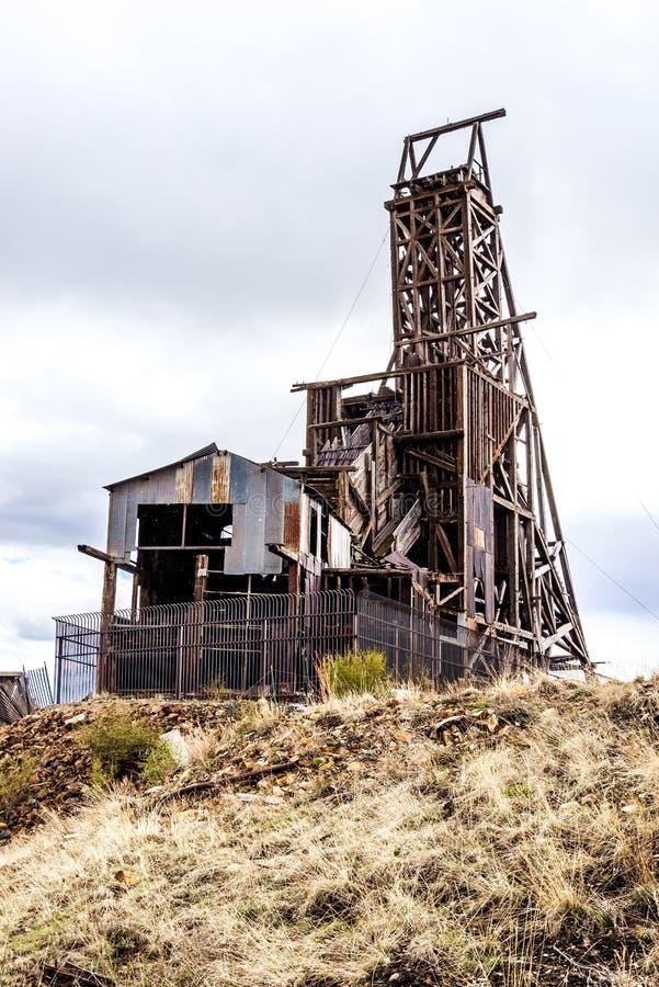 胜者的科罗拉多历史的金矿 库存图片