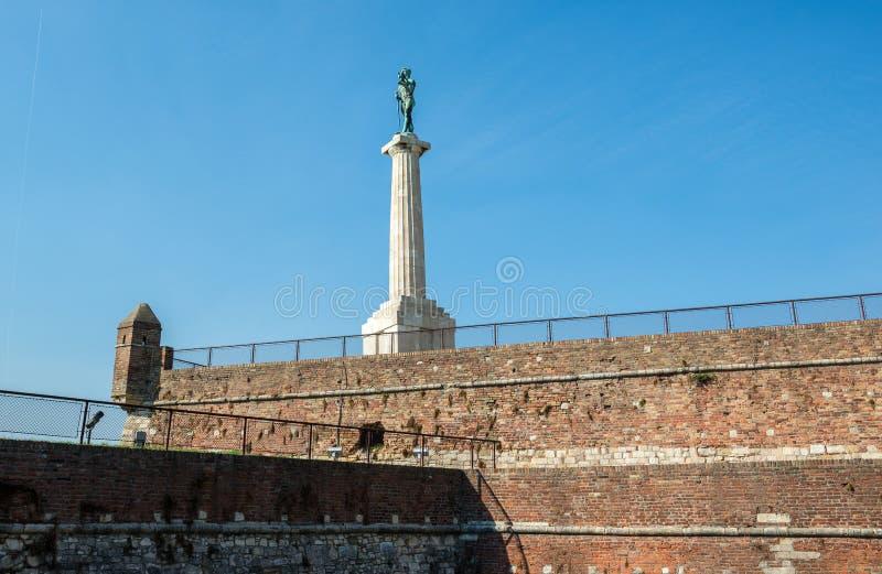 胜者纪念碑在贝尔格莱德 图库摄影