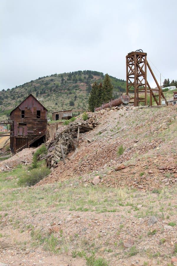 胜者,矿共同的城市-全国历史的区 库存照片