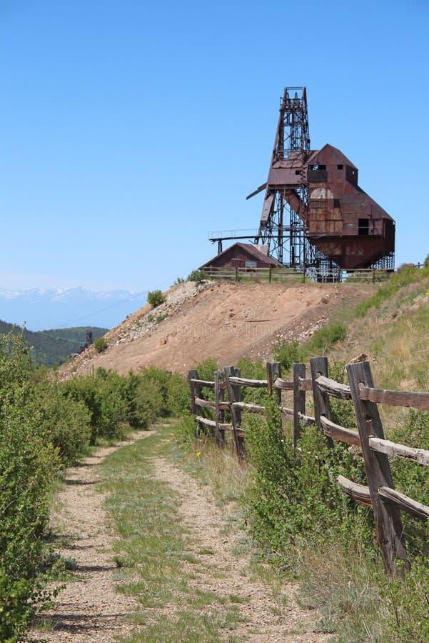 胜者,矿共同的城市-维护者谷足迹 免版税库存图片