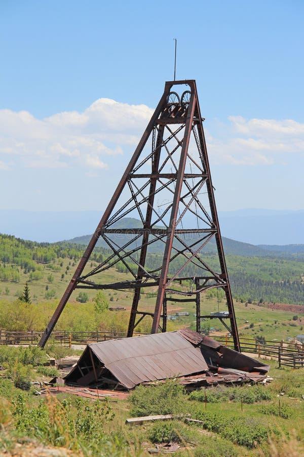 胜者,矿共同的城市-维护者谷足迹 库存照片