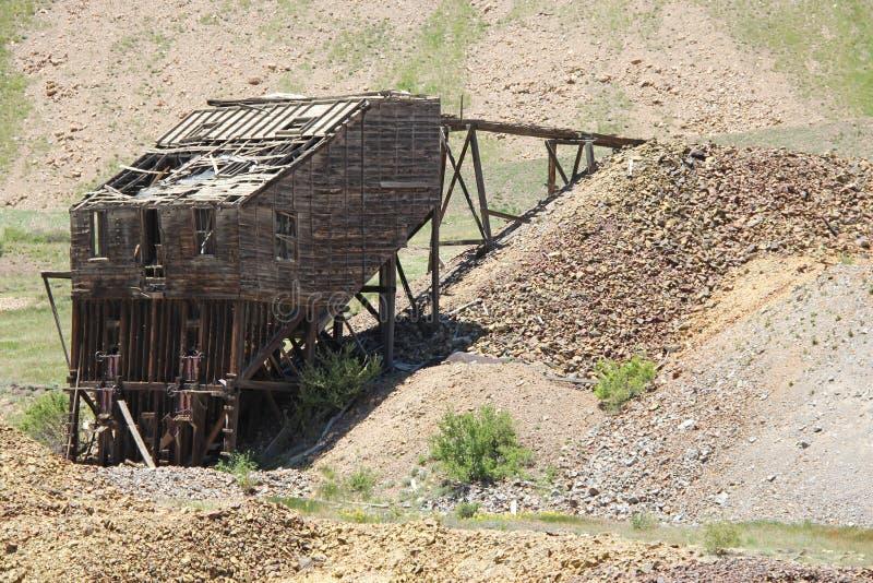 胜者,矿共同的城市-维护者谷足迹 免版税库存照片