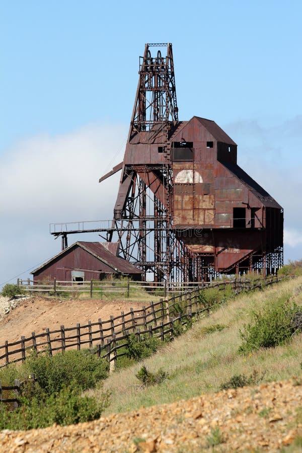 胜者,矿共同的城市-维护者谷足迹 库存图片