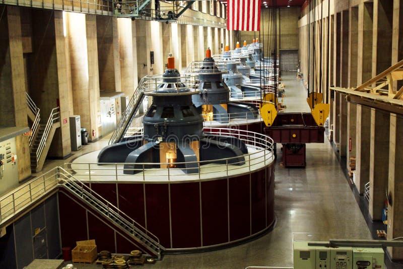 胡佛水坝发电器 库存照片
