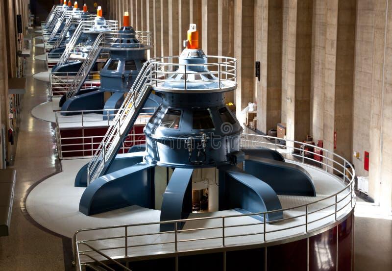 胡佛水坝大力士发电器 库存照片