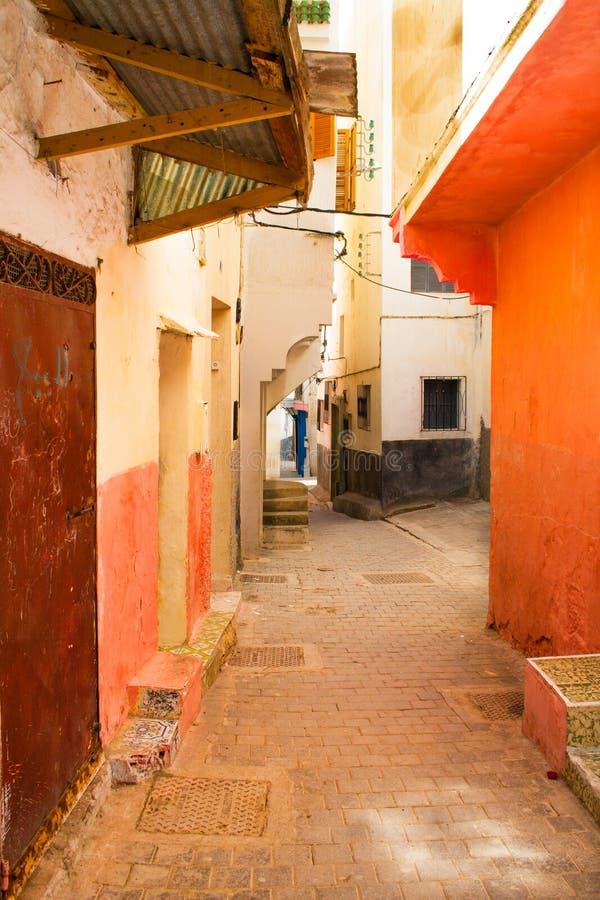 胡同在摩洛哥 免版税库存照片