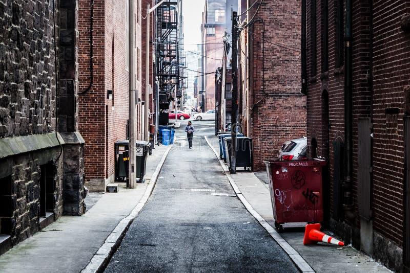 胡同在波士顿,马萨诸塞 库存图片