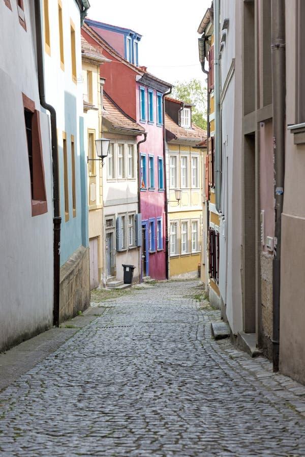 胡同在琥珀,德国镇  库存图片