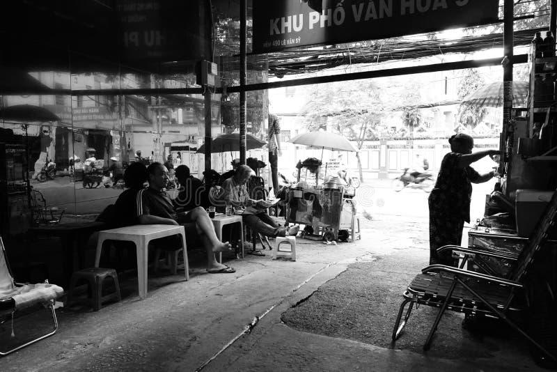胡同生活在Sai Gon,越南中 免版税库存照片