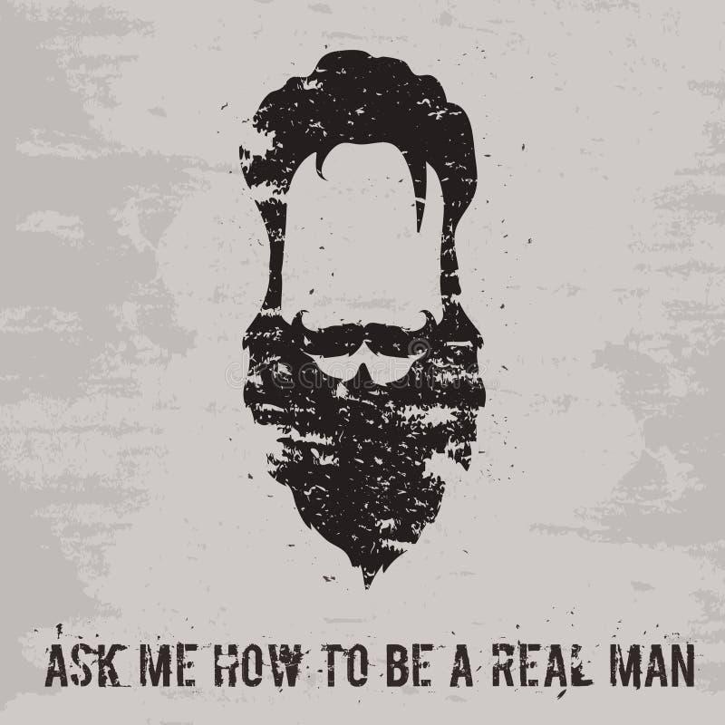 胡子概念 库存例证