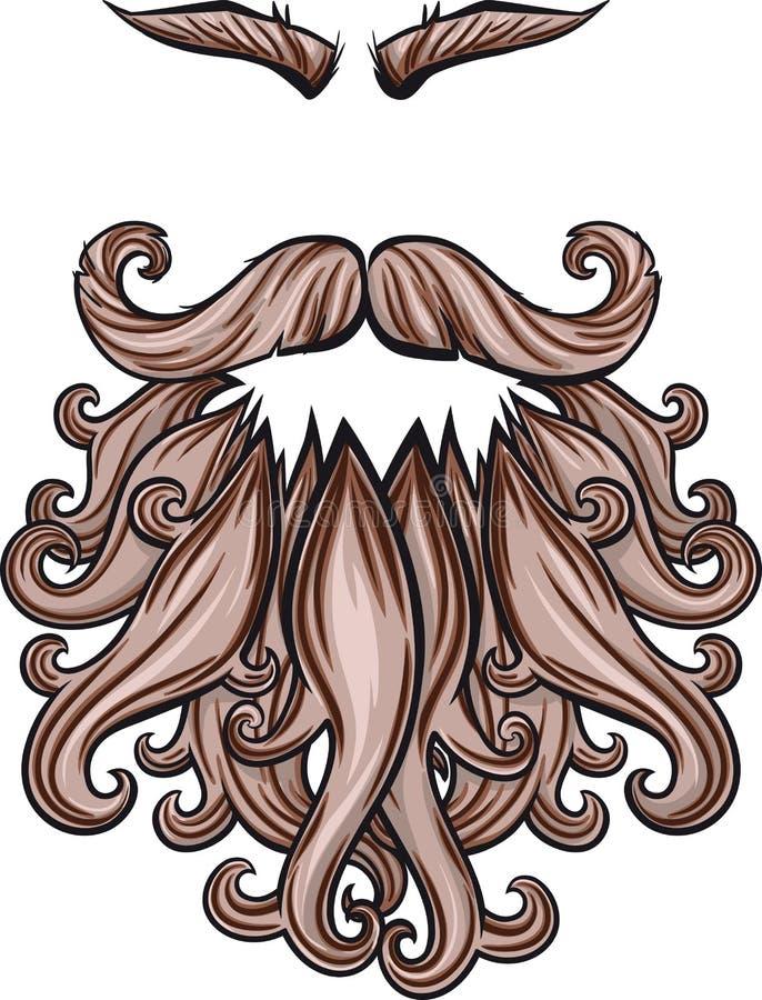 胡子髭和眼眉 向量例证