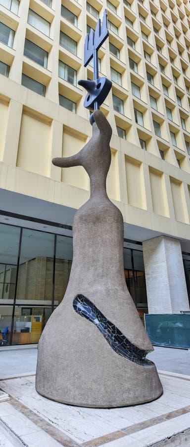 胡安・米罗-芝加哥雕塑 免版税图库摄影