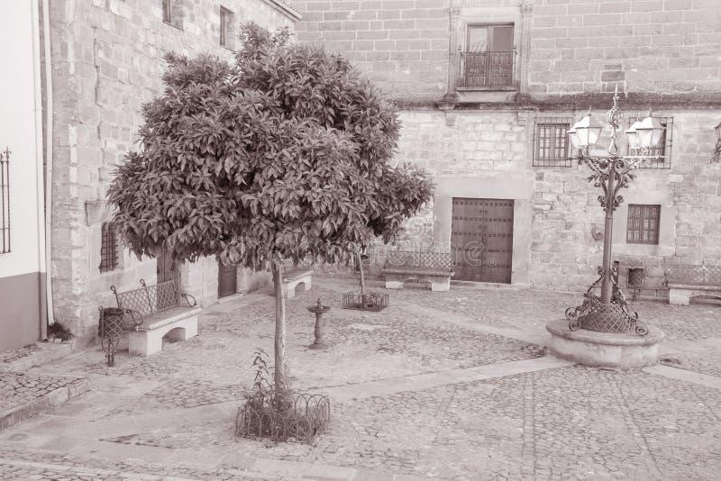 胡安de巴伦西亚广场,宇部,安大路西亚,西班牙 免版税库存图片