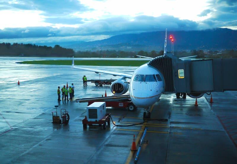 胡安SantamarÃa国际机场 库存照片