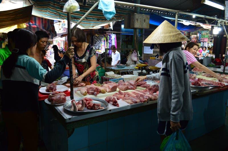 胡志明市市场屠户 免版税库存照片