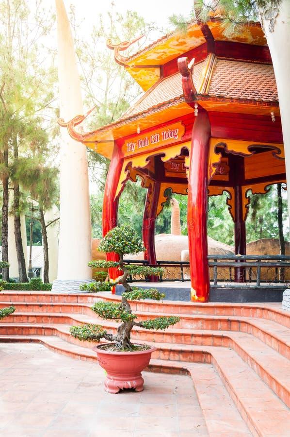 胡志明市,越南, 12,25,2017传统眺望台 图库摄影