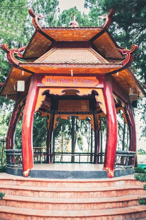 胡志明市,越南, 12,25,2017传统眺望台 免版税库存照片