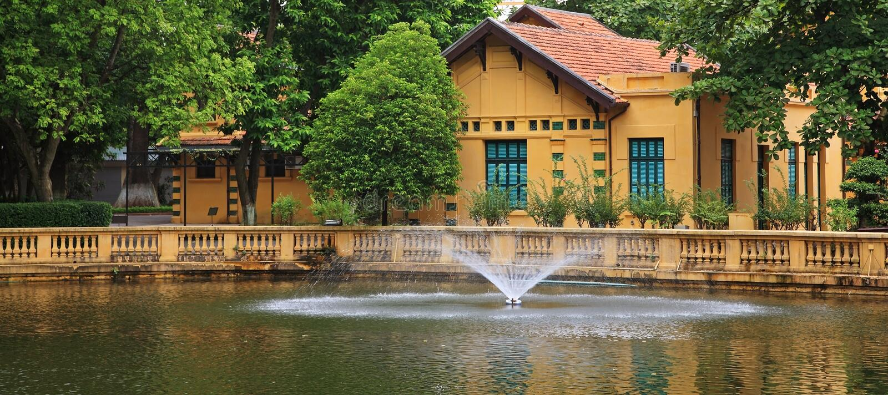 胡志明的住所在河内,越南 库存照片