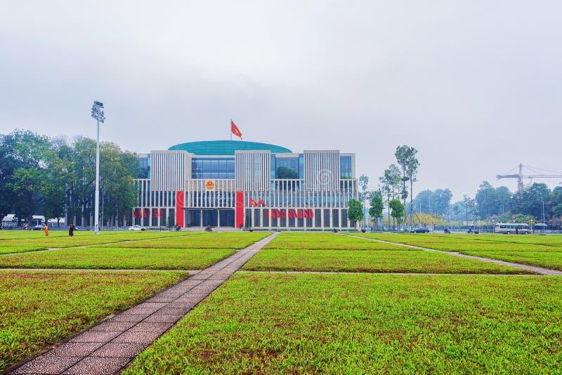 胡志明陵墓在河内越南 免版税图库摄影