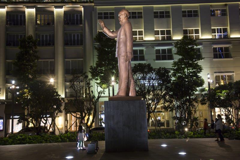 胡志明雕象在HCM城市的中心 库存照片