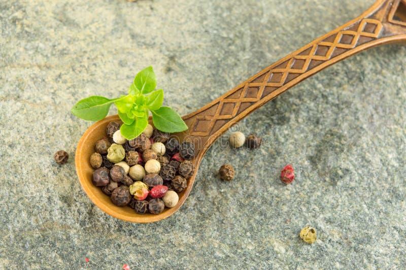 Download 胡椒在一把木匙子的香料五谷 库存图片. 图片 包括有 玉米, 背包, 干胡椒, 绿色, 类似, 健康, 陆运 - 72357241