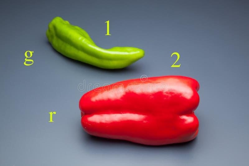 胡椒有很多维生素 免版税图库摄影