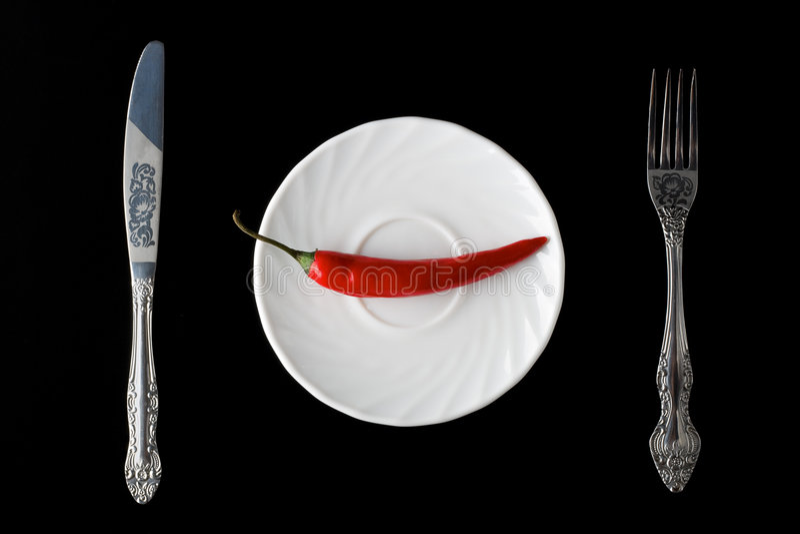 胡椒牌照红色 免版税库存图片