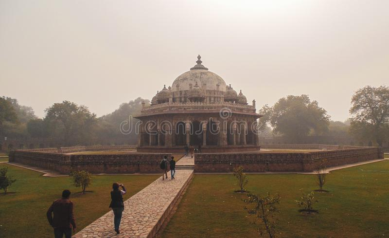 胡马雍的坟茔在德里,印度 图库摄影