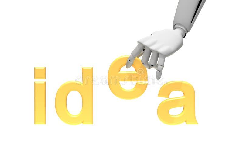 胳膊想法机器人字 向量例证