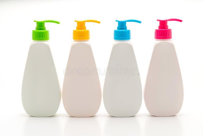 胶凝体、泡沫或者液体皂分配器泵浦塑料瓶 免版税库存图片