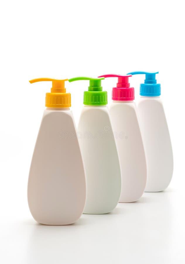 胶凝体、泡沫或者液体皂分配器泵浦塑料瓶 库存图片