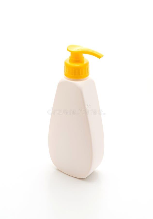 胶凝体、泡沫或者液体皂分配器泵浦塑料瓶 免版税库存照片