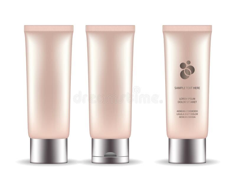 胶凝体的,液体,奶油化妆塑料管 r 皇族释放例证