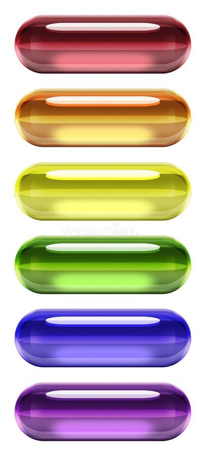 胶凝体药片彩虹垂直 向量例证