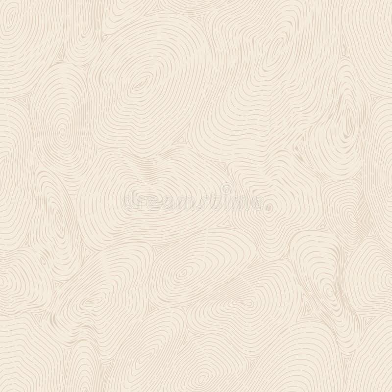 胶合板 淡黄色传染媒介木头纹理 库存例证