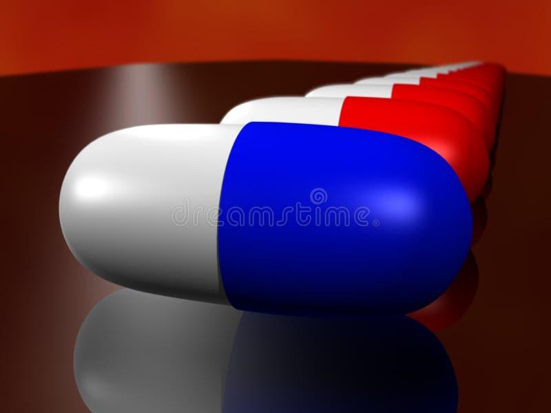 胶囊深度药物领域 库存例证
