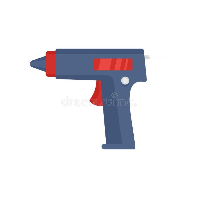 胶浆手枪象,平的样式 库存例证