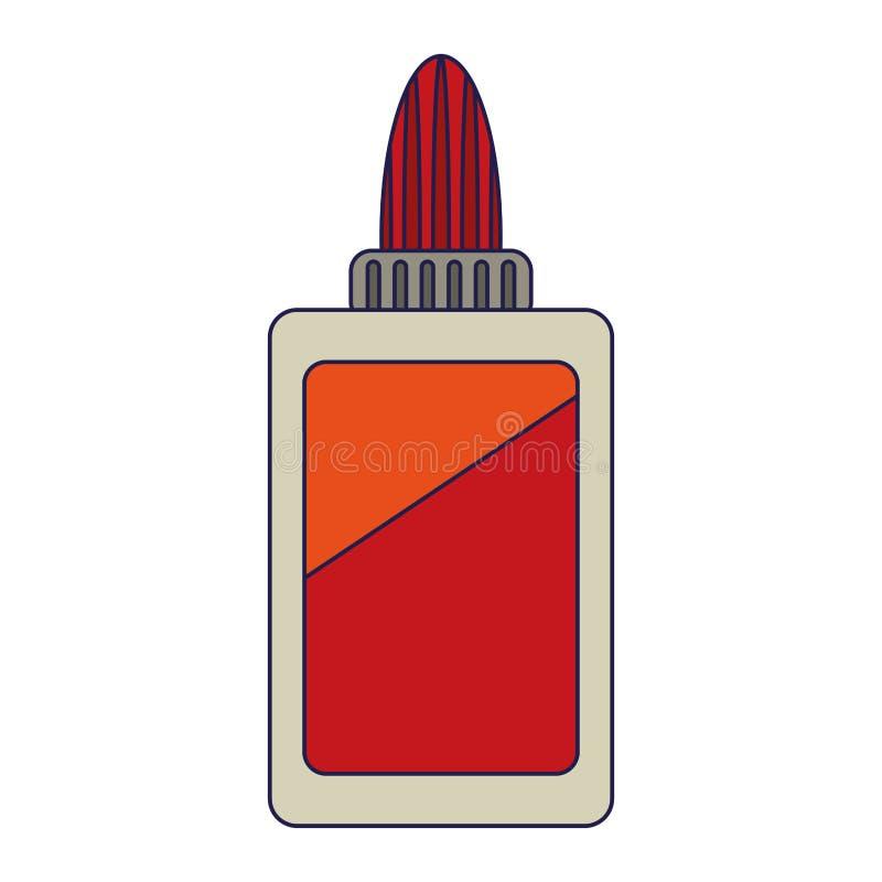 胶浆瓶学校器物标志蓝线 皇族释放例证