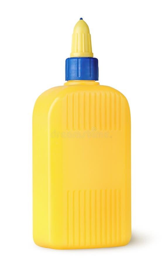 胶浆被转动的塑料瓶 库存图片