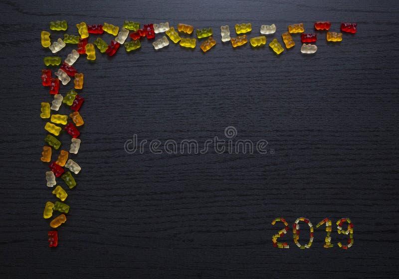 胶粘的糖果贺卡2019年 免版税库存照片