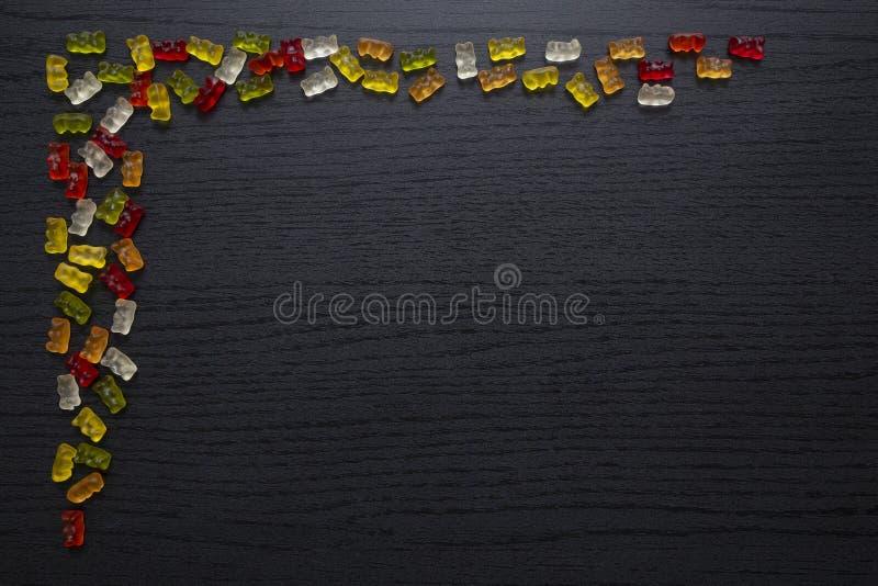 胶粘的糖果贺卡 图库摄影