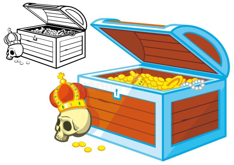 胸口海盗珍宝 向量例证
