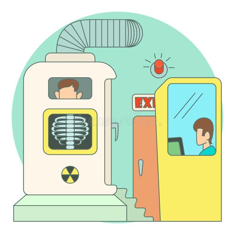 胸口照片X-射线在医院概念的 皇族释放例证