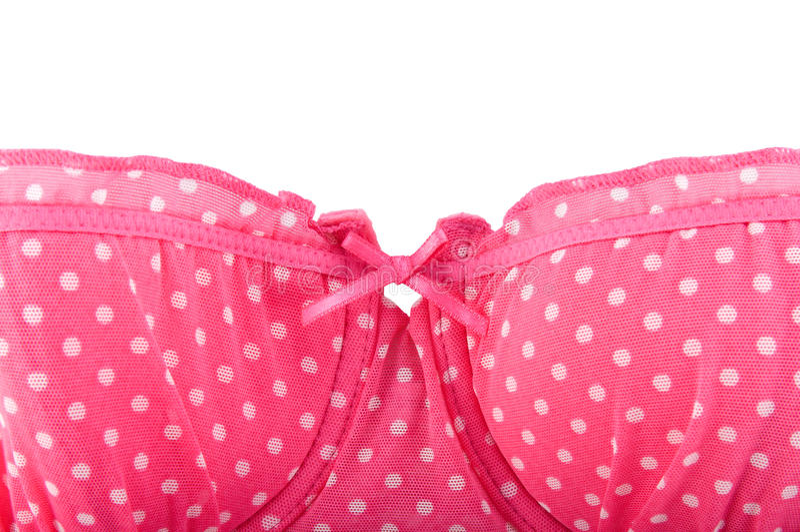 胸罩加点短上衣红色 免版税库存照片